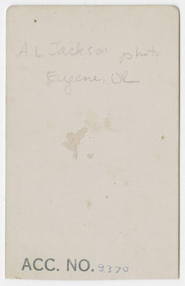 A. L. Jackson portrait of an unidentified man (verso)