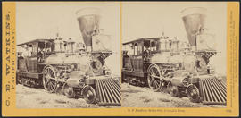 """D.F. Bradford, Dalles City, Columbia River."" (Stereograph 1313)"