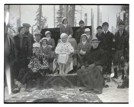 1933 Winter Sports Carnival queen and court