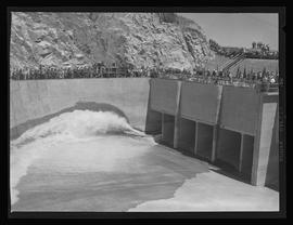 Ceremony at Grand Coulee Dam, start of irrigation pumps