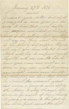 "Letter to From James A. Derbyshire, followed by a letter addressed to ""Dear Brothers"""