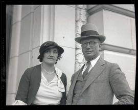 Reverend George V. Fallis and unidentified woman