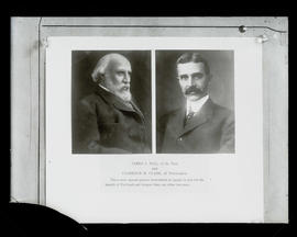 Portraits of James J. Hill and Clarence M. Clark
