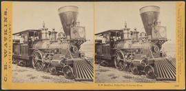"""D.F. Bradford, Dalles City, Columbia River."" (Stereograph 1312)"