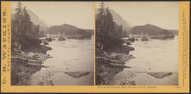 """View on the Columbia River, from the O.R.R., Cascades."" (Stereograph 1284)"