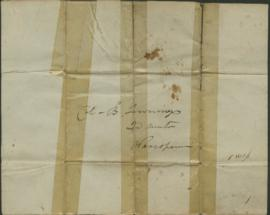 Letter from Joel Palmer to Colonel B. Jennings