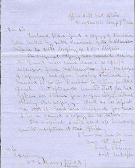 Letter from Joel Palmer to George L. Curry