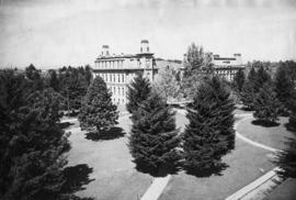 University of Oregon, Deady and Villard Halls, Eugene, Oregon, circa 1900