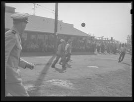 Albina Engine & Machine Works, workers playing soccer?