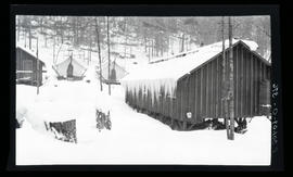 Oak Grove project, bunkhouse and icicles at camp #8 at Three Lynx