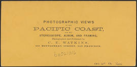"Verso of, ""Dalles City, Columbia River, from Sun Set Hill."" (Stereograph 1305)"