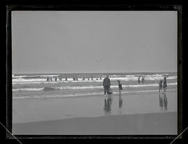 People in the surf at Seaside, Oregon?