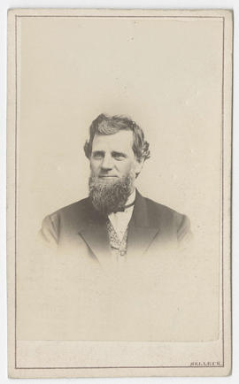 Silas Selleck portrait of an unidentified man
