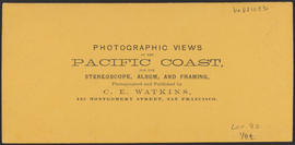 "Verso of, ""Castle Rock, Columbia River."" (Stereograph 1243)"
