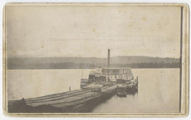Steamer ship at Cathlamet Wharf, Washington