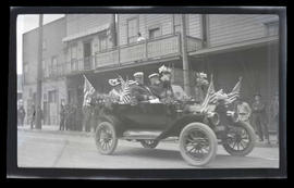 Car in parade, possibly in Astoria