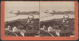 """Seattle, Puget Sound, W. T.; view from South Ridge."" (Stereograph 5228)"