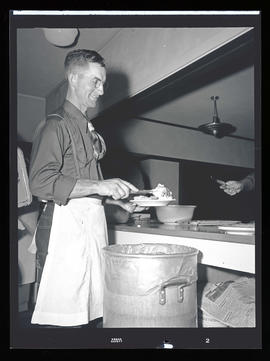 Food preparation at the Western Horse Show