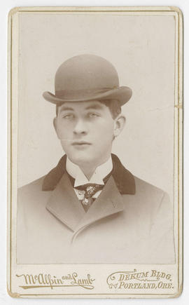 Portrait of an unidentified man from McAlpin & Lamb Studio