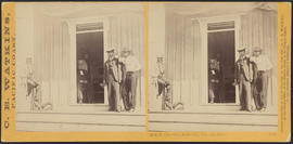 """O.S.N. Co's office, Dalles City, Columbia River."" (Stereograph 1310)"