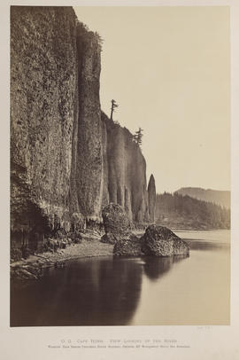 """O.2. Cape Horn. View Looking Up the River."""