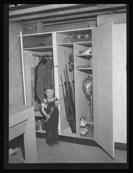 Bob Fassett's fishing gear locker with son, Craig