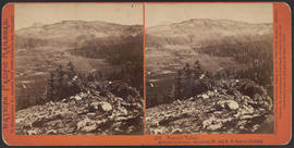 """Summit Valley, Attitude 6,960 feet. Emigrant Mt. and R. R. Pass in distance."" (Stereograph ..."