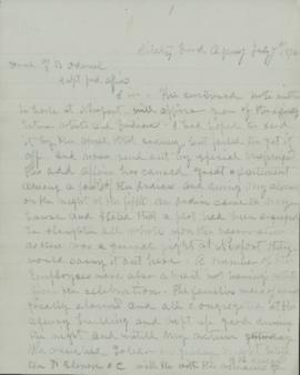 Copy of letter to T.B. Odeneal