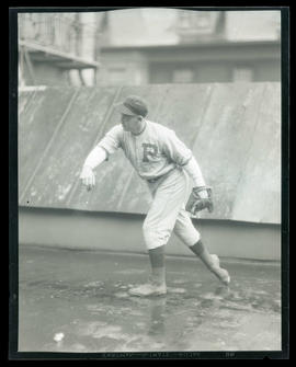 Baseball player, possibly for Portland