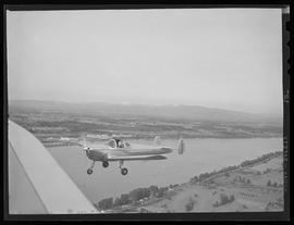 Tex Rankin's demonstration of the Ercoupe to Mayor Earl Riley