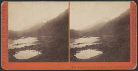 """Distant View of Tooth Bridge, Col. River Scenery, Or."" (Stereograph E47)"