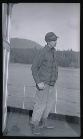 Man on the deck of the MV Westward