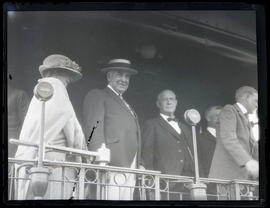 First Lady Florence Harding, President Warren G. Harding, and Governor Walter M. Pierce in Meacha...