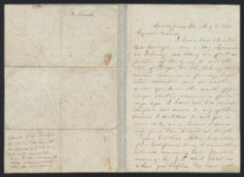 Letter from Abraham Lincoln to Simeon Francis