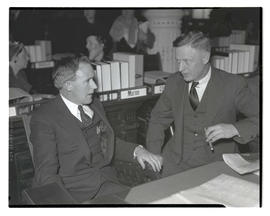 Representatives Earl Hill and Jack Caufield at opening of 1935 Oregon legislative session