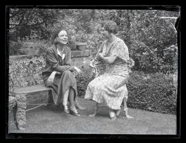 Actress Blanche Sweet and Ella Tenney Jackson at Jacksons' home