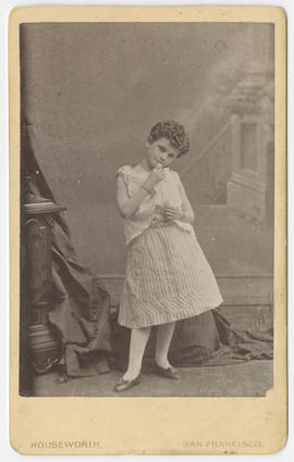 Portrait of an unidentified child from Thomas Houseworth & Co. Studio