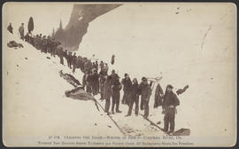 """D104. Clearing the Track--Winter of 1884-5--Columbia River, Or."""
