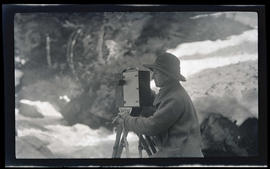 Irene Finley with camera