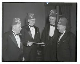 Joseph K. Carson with three unidentified Shriners