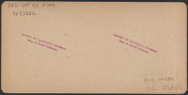 "Verso of, ""Multnomah Falls in Winter, Cascades, Oregon"" (Stereograph E38"