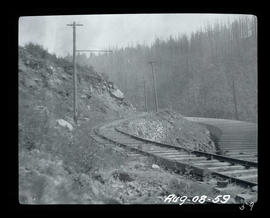 Cazadero Dam, flume and railway