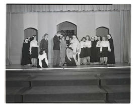 Marylhurst College students performing play