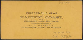 "Verso of, ""Interior of the O. S. N. Co's Warehouse, Celilo, Columbia River"" (Stereograp..."