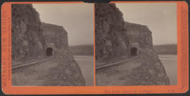 """East Portal, Tunnel No. 3, Oregon."" (Stereograph E20)"
