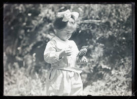 Phoebe Katherine Finley Holding a Robin