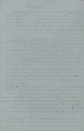 Treaty excerpts made at Port Orford
