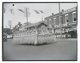 State flax industry parade float