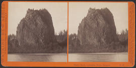 """Castle Rock, Columbia River, Oregon"" (Stereograph E43)"
