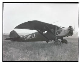 Shell Oil plane at airfield